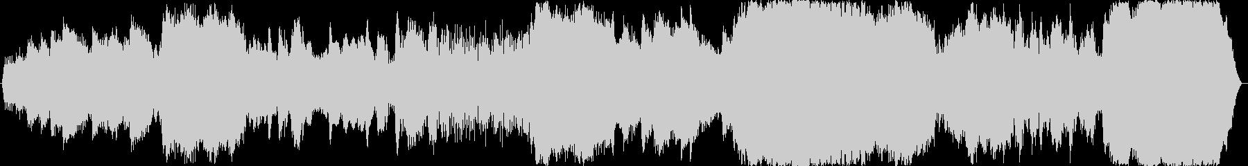 ホラー、暗い、恐怖なイメージのBGMの未再生の波形