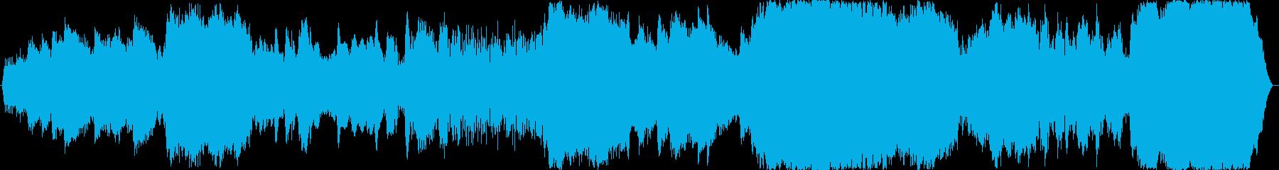 ホラー、暗い、恐怖なイメージのBGMの再生済みの波形