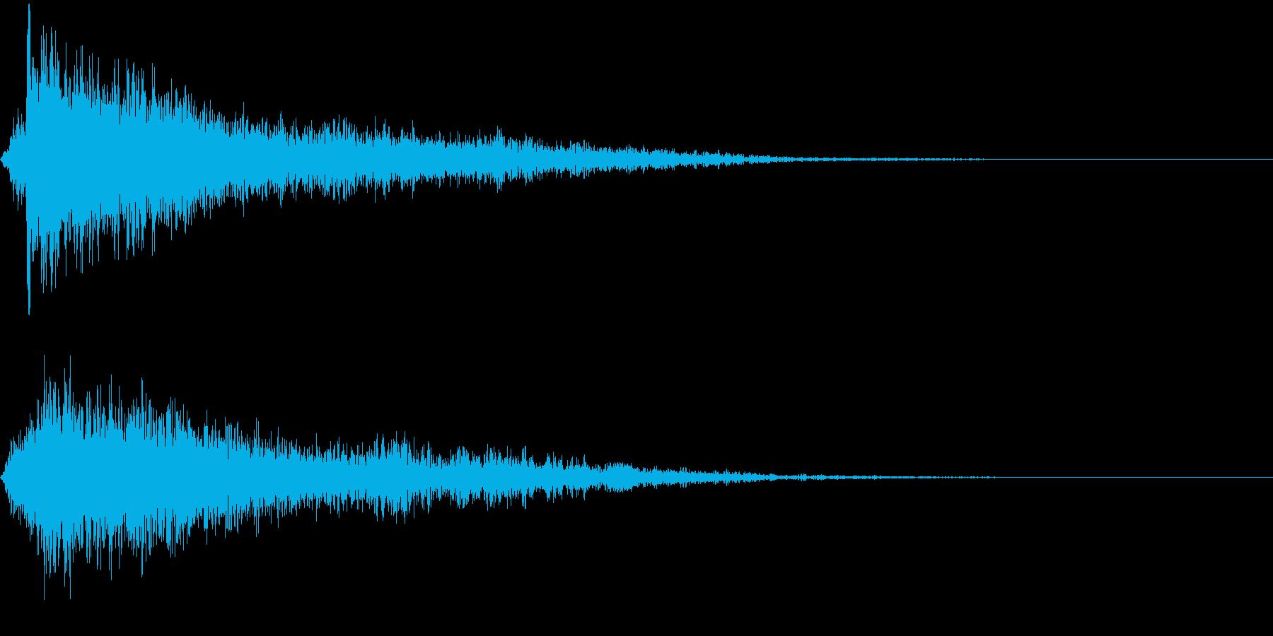 落ちる 電源オフ ヒューン スイッチの再生済みの波形