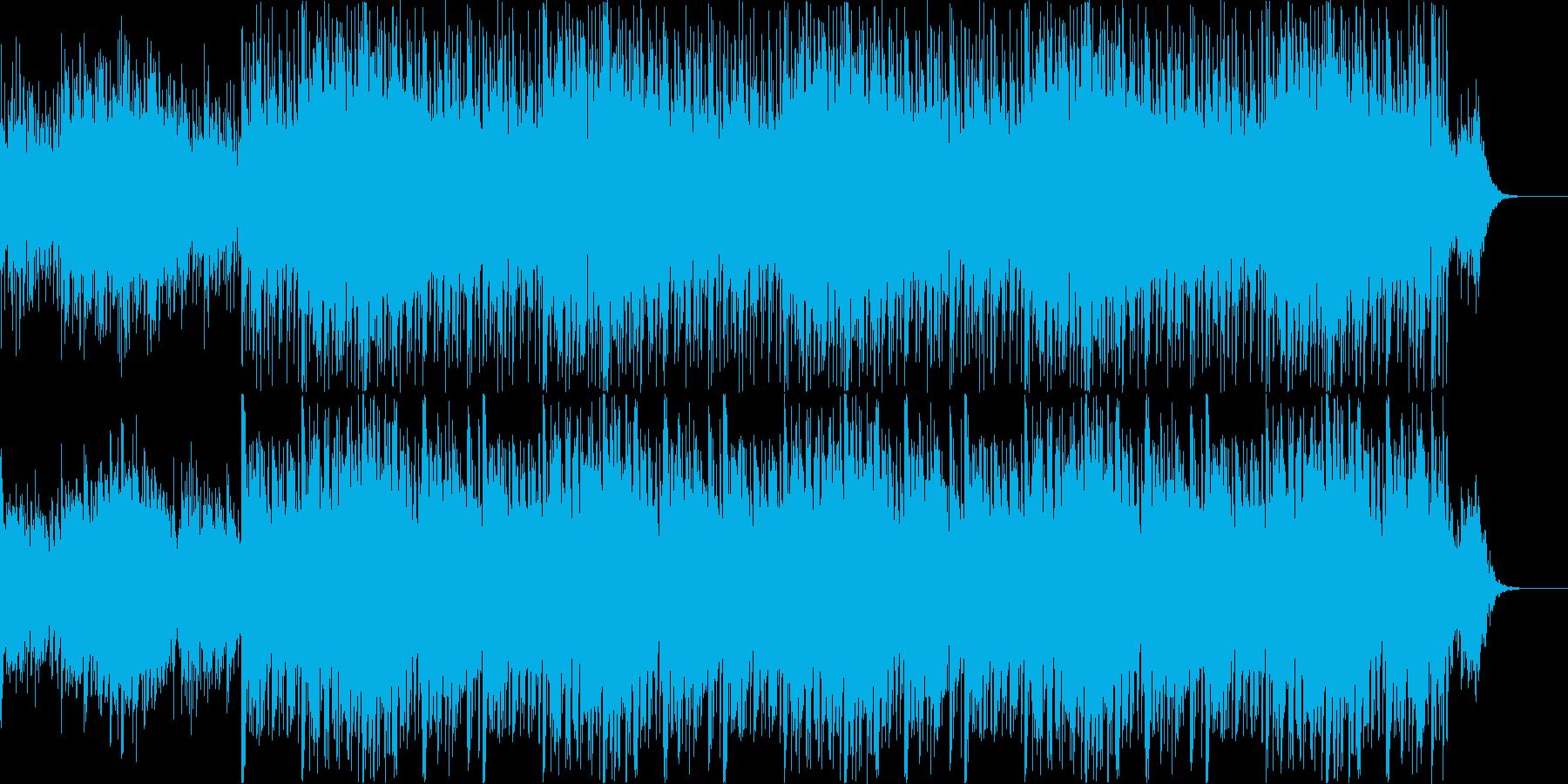 爽やかなサウンドの再生済みの波形