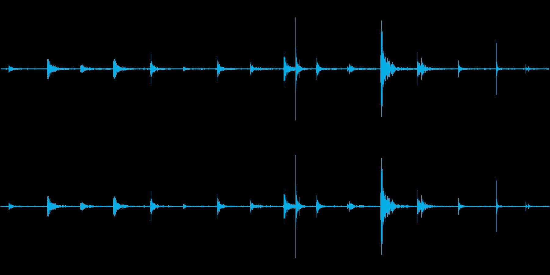 【生音】階段・上る・鉄板 「カンカンカ…の再生済みの波形