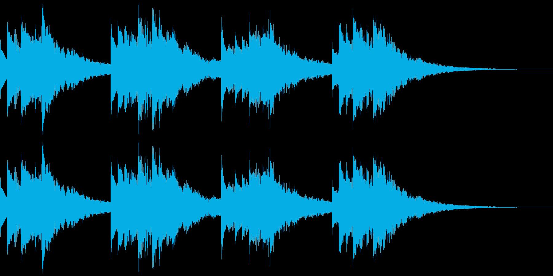 綺麗でメロディアスな着信音3の再生済みの波形