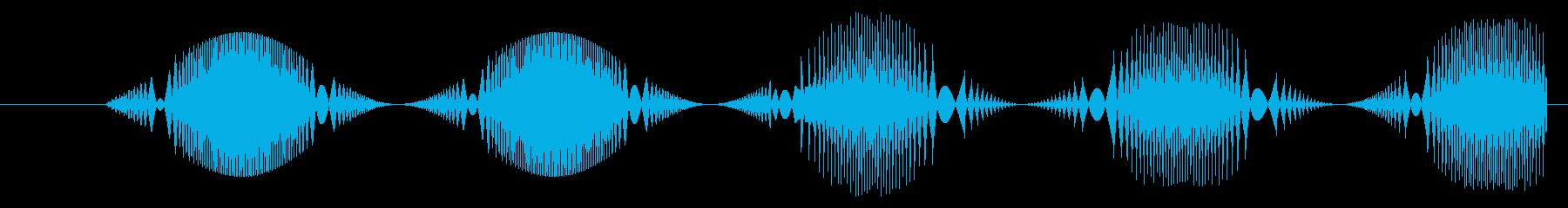 FX シンセ振動01の再生済みの波形