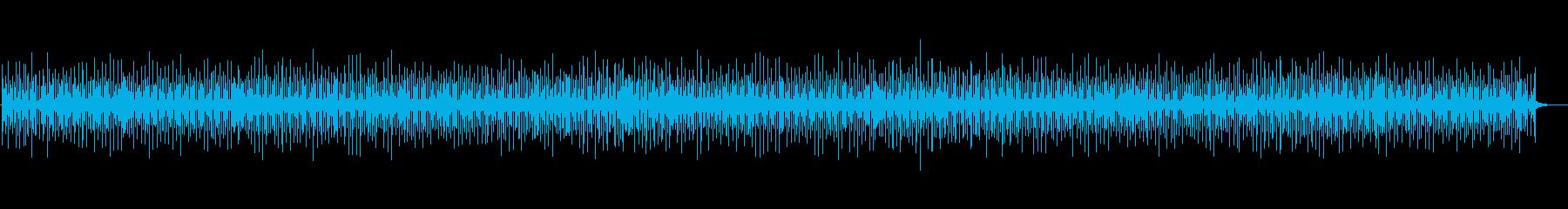 軽快なンチャンチャの再生済みの波形