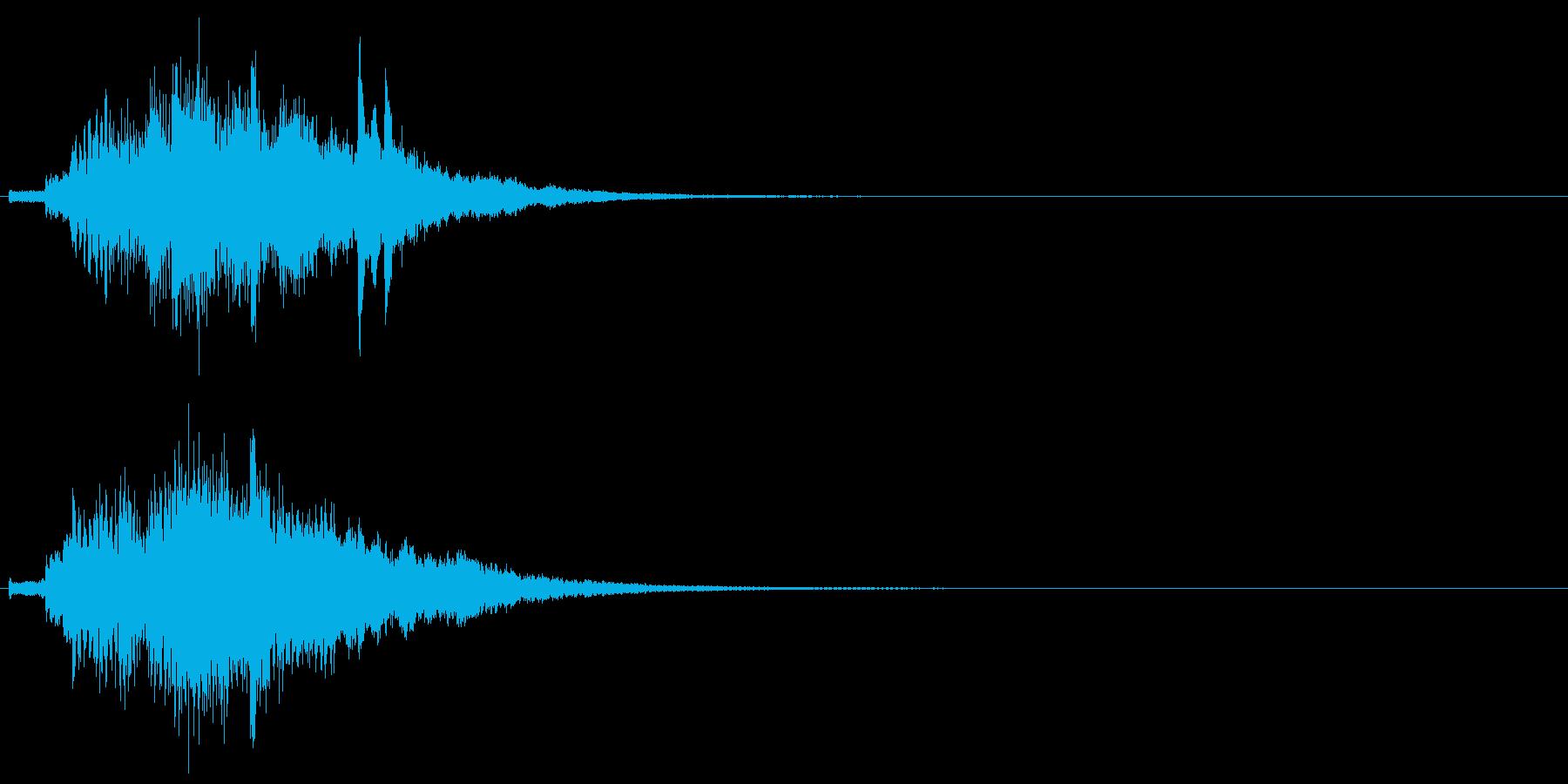 ハープ・上昇_10-1の再生済みの波形