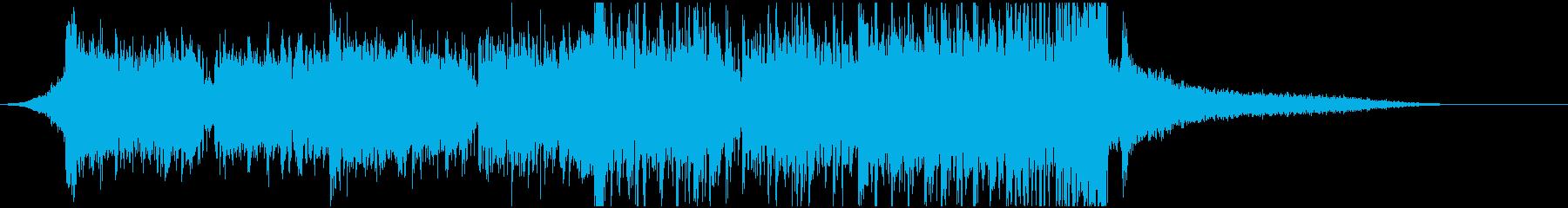 短めなドラムンベースのジングルの再生済みの波形