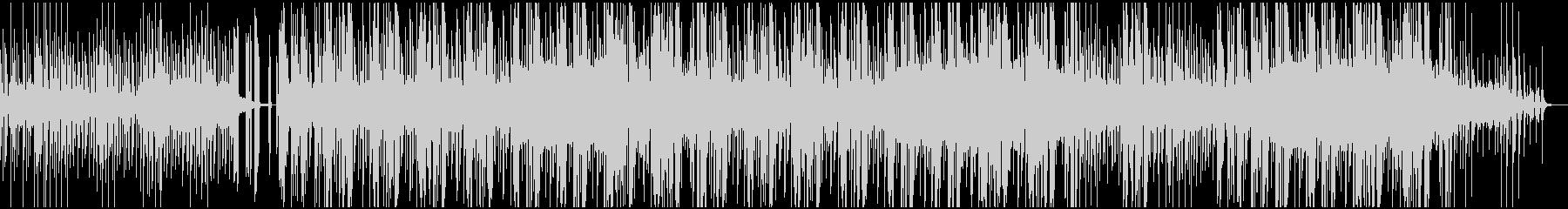 ピアノとスラップが印象的なエレクトロニカの未再生の波形