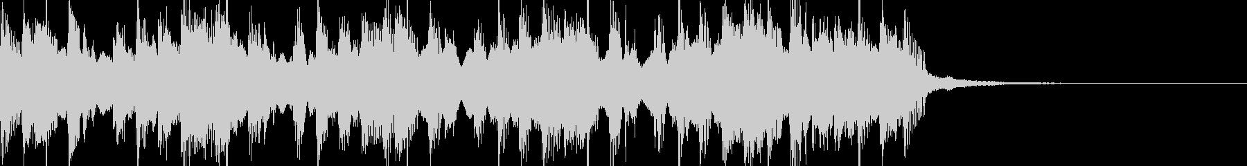 レゲエ風ジングルの未再生の波形