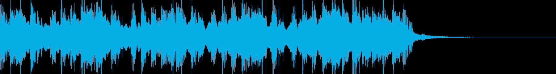 レゲエ風ジングルの再生済みの波形
