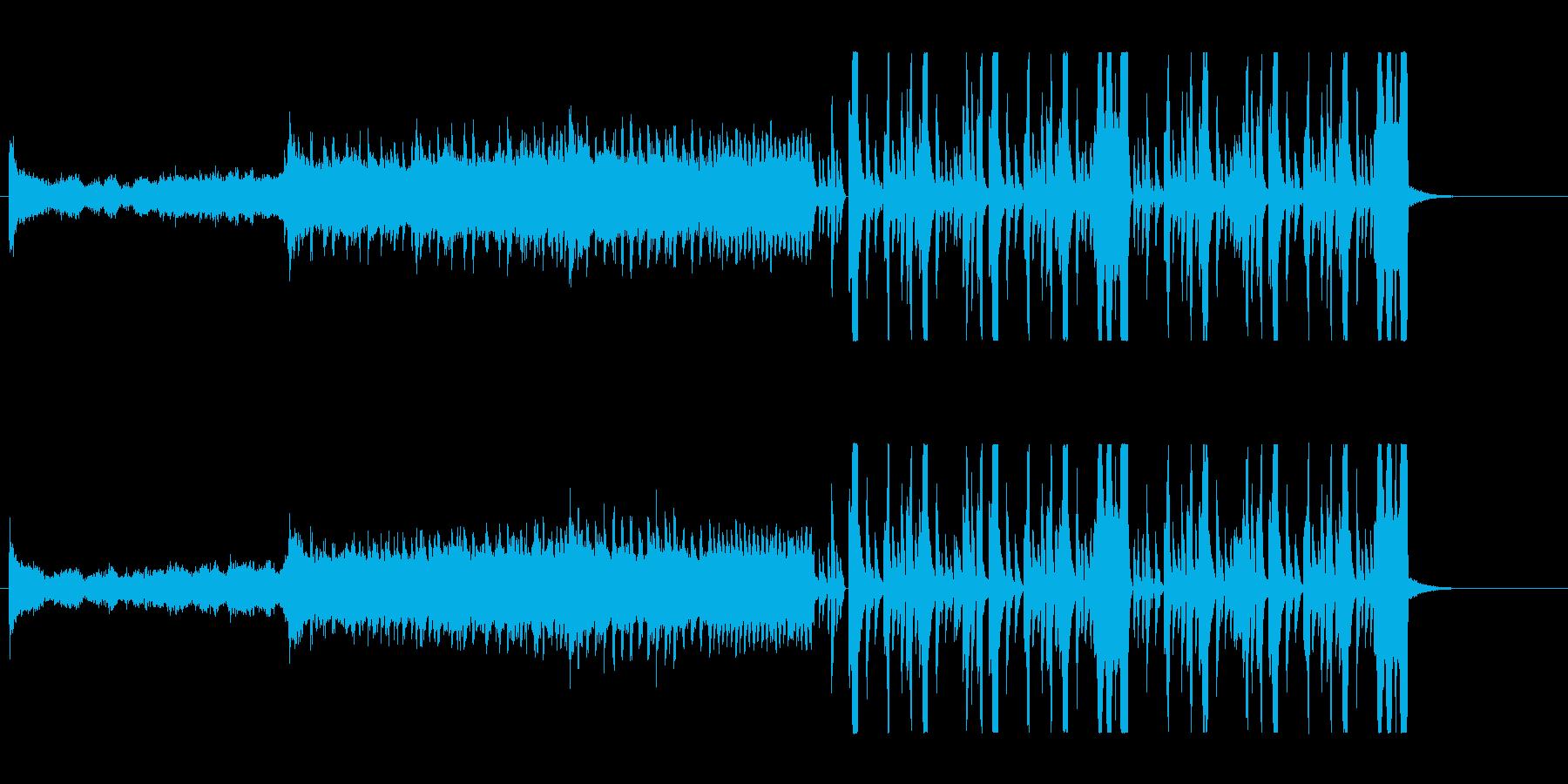 パンチのある変則ビートの再生済みの波形
