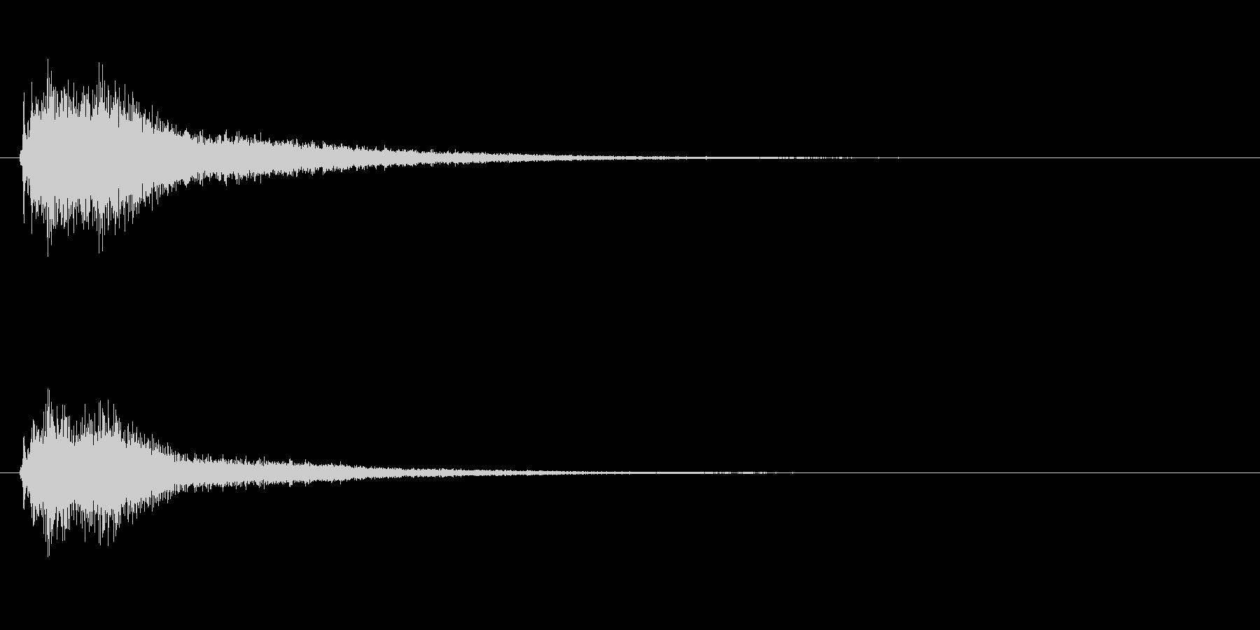 【ジャジャーン】オーケストラヒット2音の未再生の波形