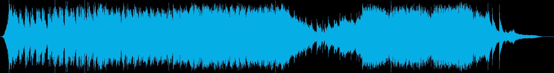 ポストアポカリプスを表現したオーケストラの再生済みの波形