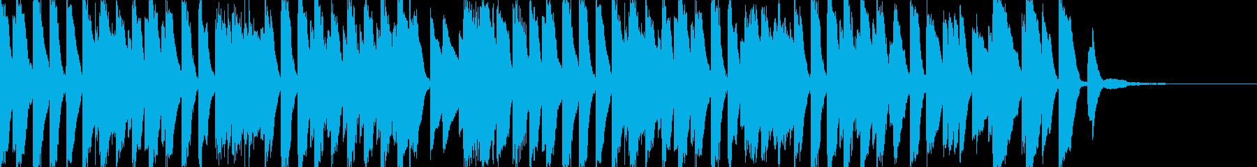 リズミカルで陽気なお洒落ピアノ曲の再生済みの波形