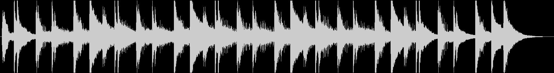 穏やかなピアノ・エレクトリックの未再生の波形