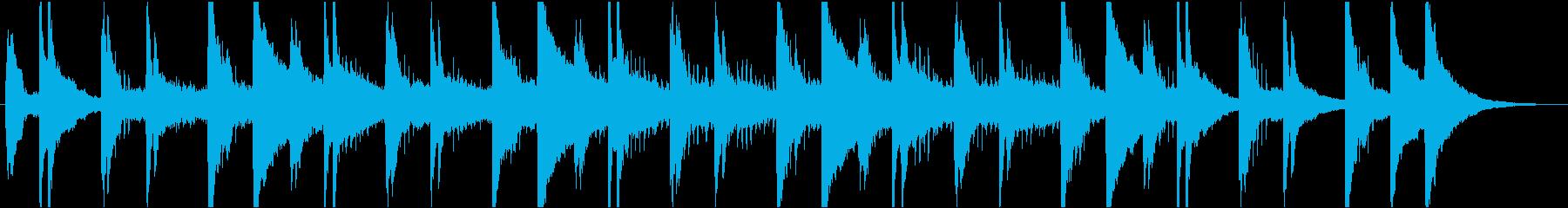 穏やかなピアノ・エレクトリックの再生済みの波形