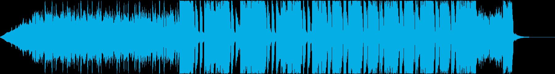 ギターリフがかっこいい30秒ジングルの再生済みの波形