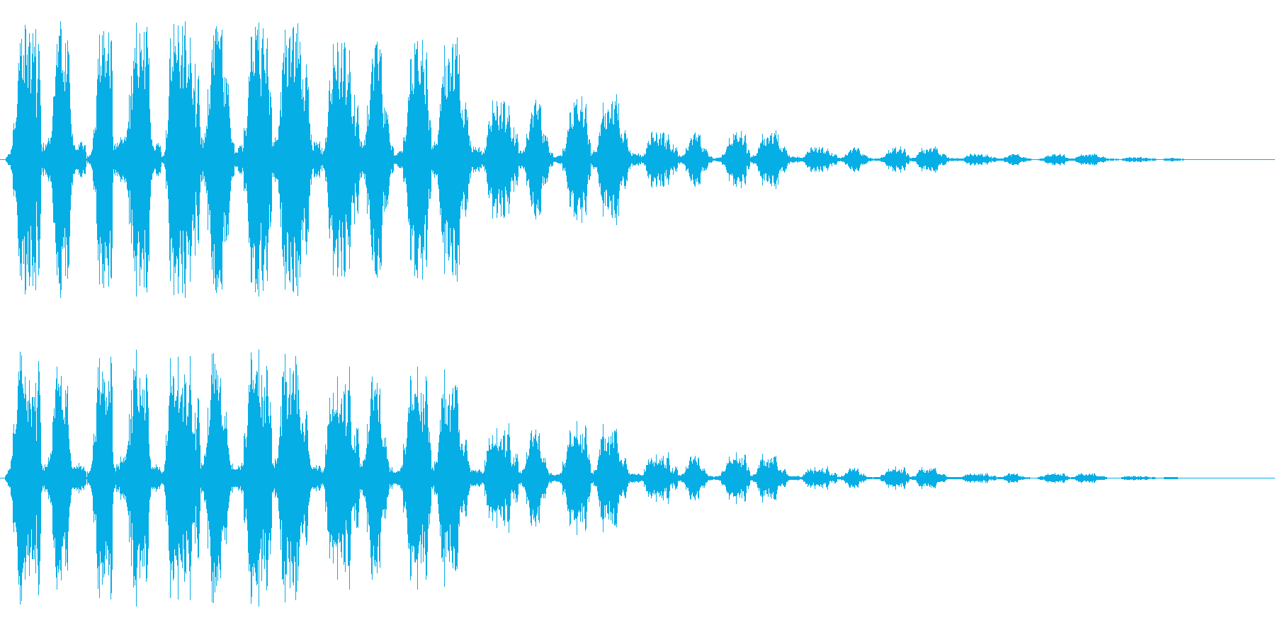 ピョコピョコピョコ(ユニークな効果音)の再生済みの波形