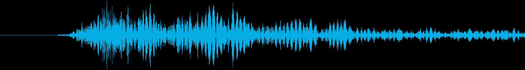 テレビセット:テレビの電源を入れますの再生済みの波形