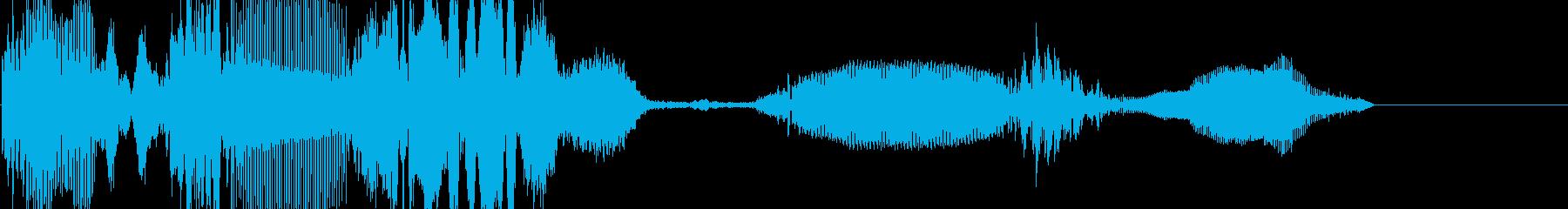 ロングノイズの再生済みの波形