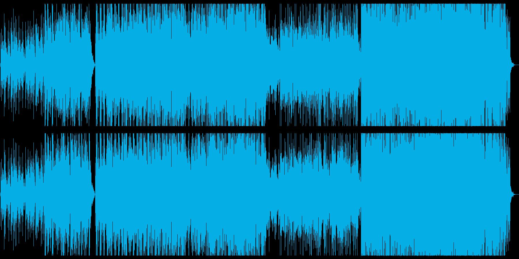 シンセを使った和風音階のエレクトロニカの再生済みの波形