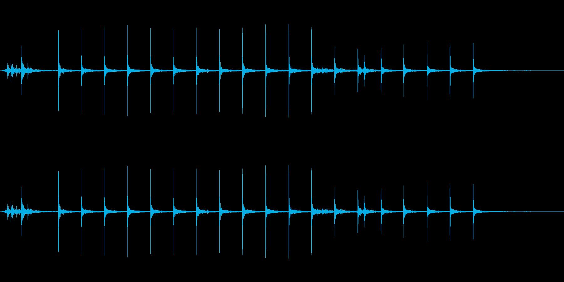 ガスコンロに火をつける音の再生済みの波形