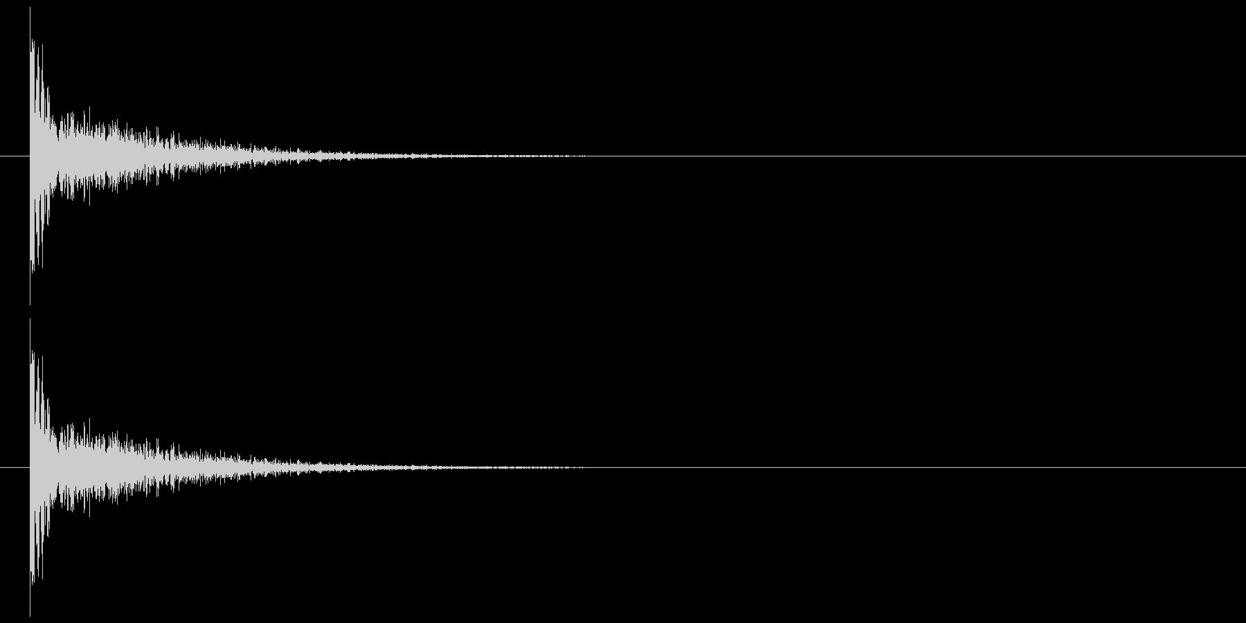 ダメージ音 16の未再生の波形