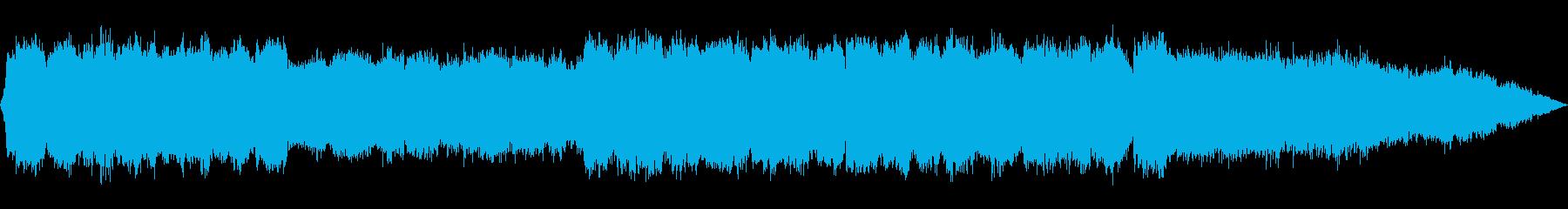笛とシンセサイザーのヒーリング音楽の再生済みの波形