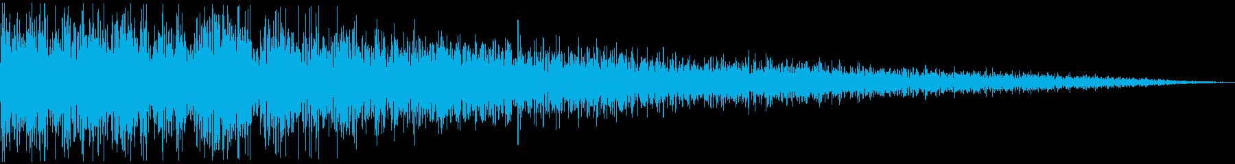 ガーン (ショック、衝撃を受ける)の再生済みの波形