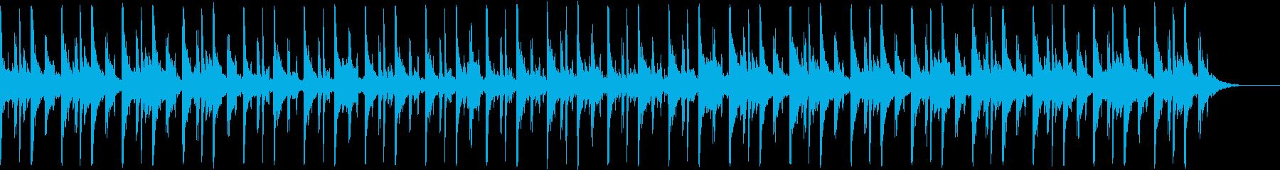 チルアウト、ローファイヒップホップの再生済みの波形