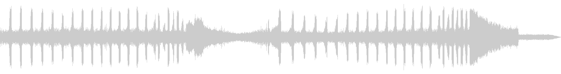 ツクツクボウシの鳴き声(近距離で合唱)の未再生の波形