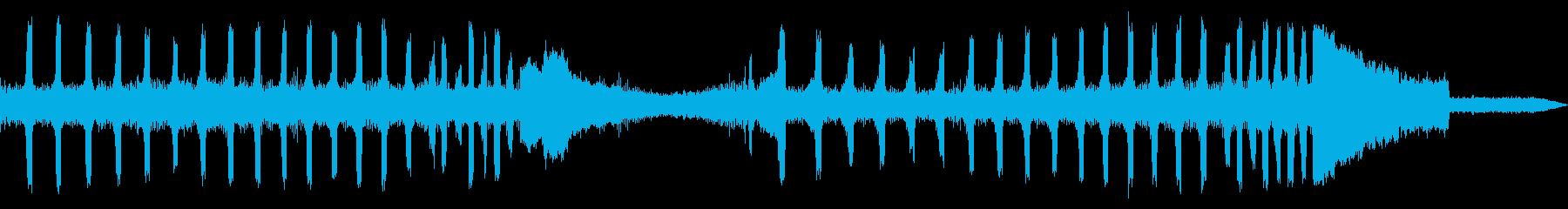 ツクツクボウシの鳴き声(近距離で合唱)の再生済みの波形