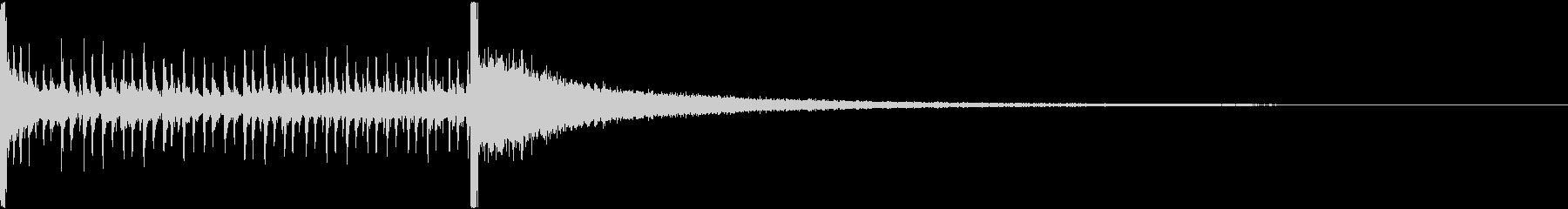 ドラムロールBの未再生の波形
