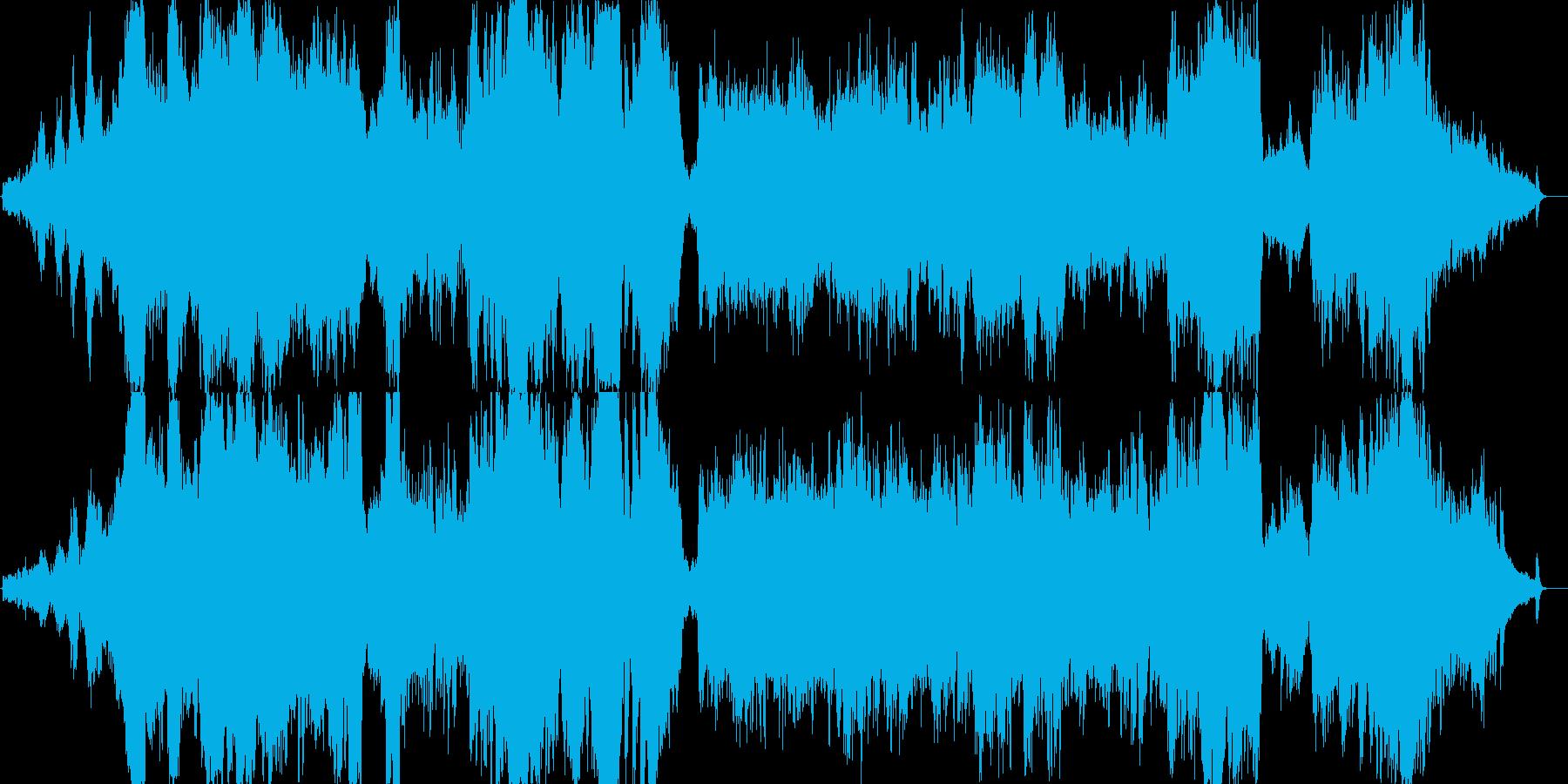 雄大な大自然をイメージした壮大な曲の再生済みの波形