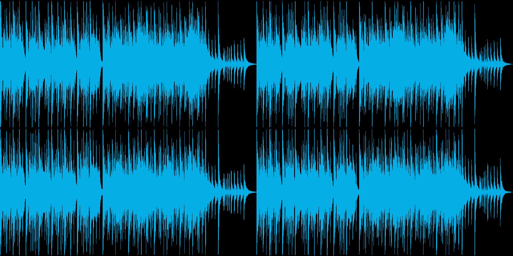 琴と尺八と太鼓によるゆったり和風BGMの再生済みの波形