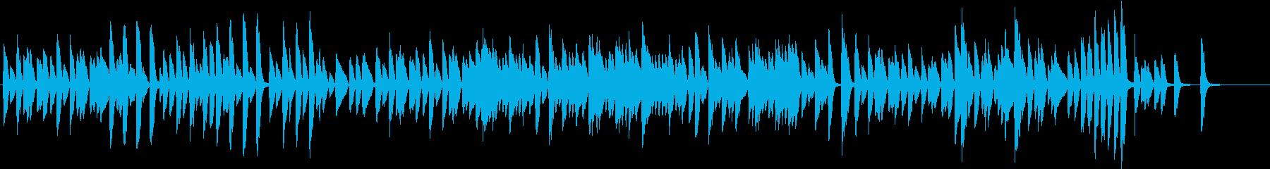 ノスタルジックで素朴で可愛いピアノ曲の再生済みの波形