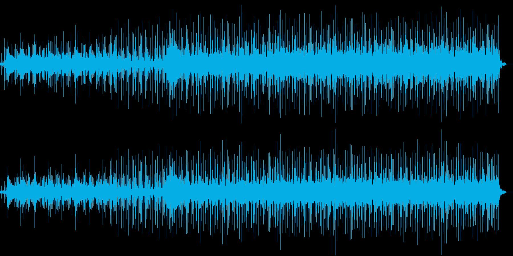 パーカッション多めの壮大なシンセ曲の再生済みの波形