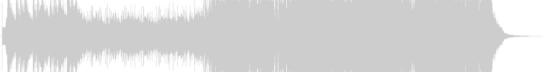 和風のオーケストラ〜ロック〜ポップスB1の未再生の波形