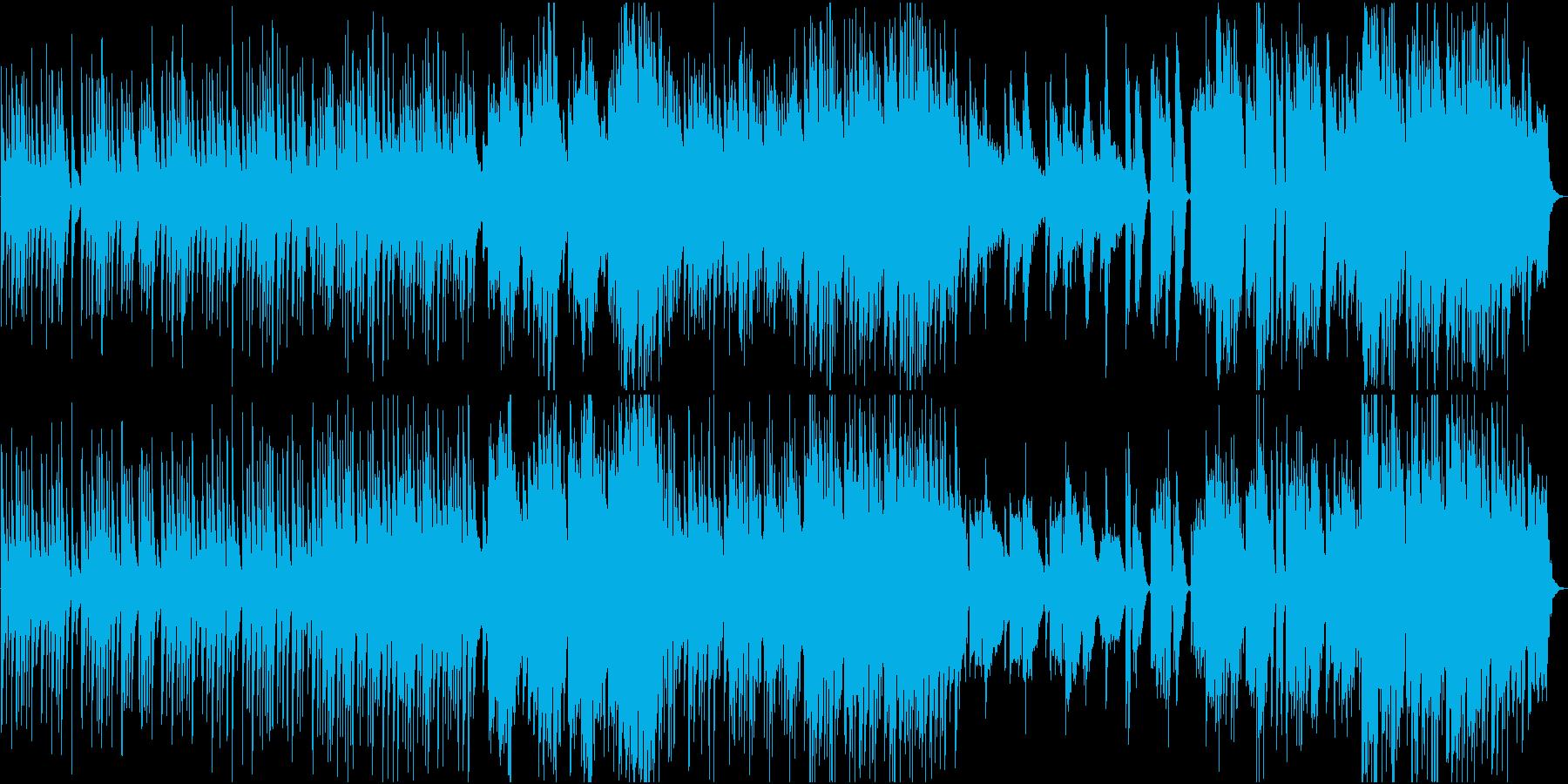 穏やかな日常的和風曲の再生済みの波形
