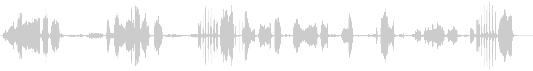 鹿の未再生の波形
