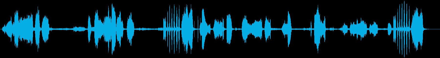 鹿の再生済みの波形
