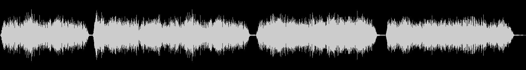 モンスターの声の未再生の波形