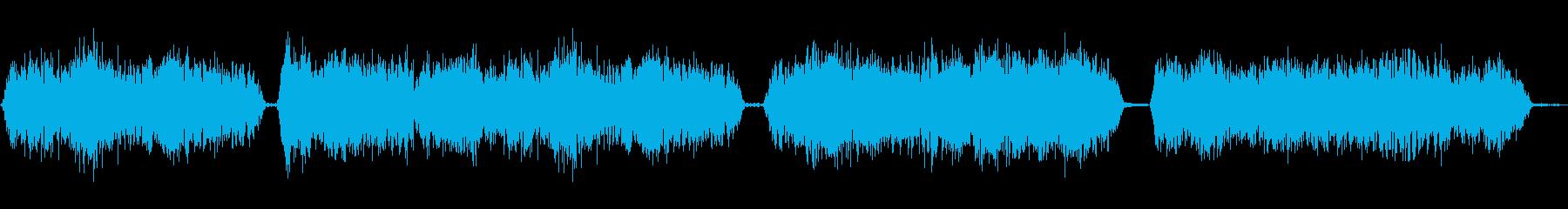 モンスターの声の再生済みの波形