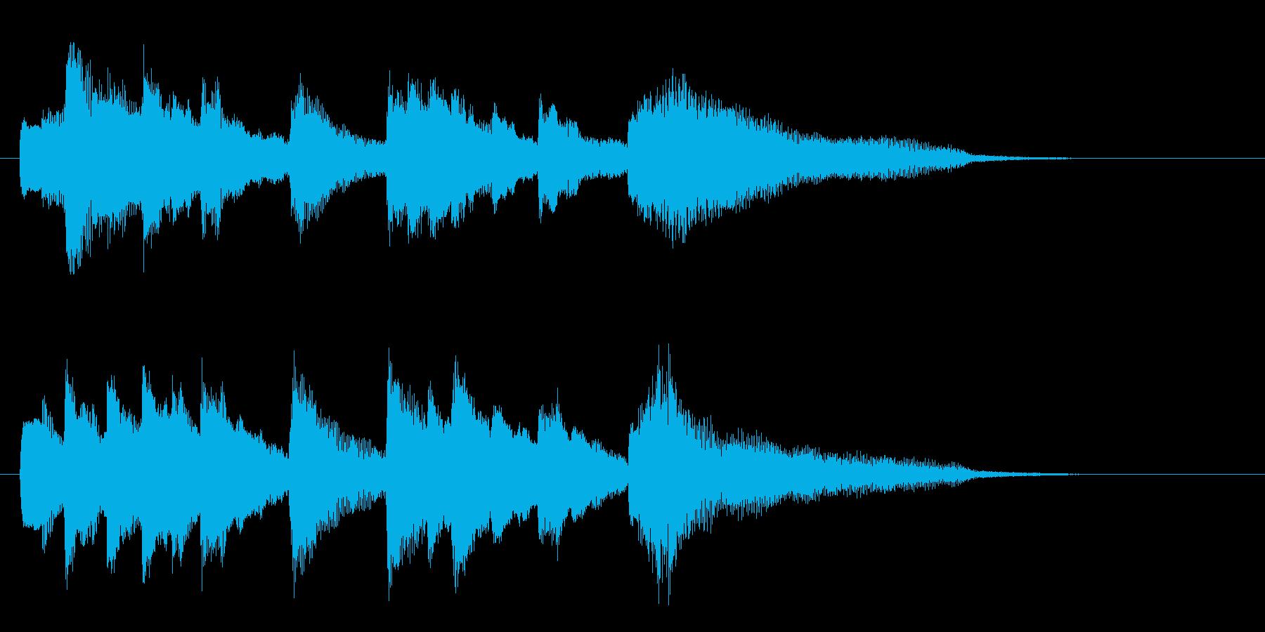 ピアノ 余韻 ジングルの再生済みの波形