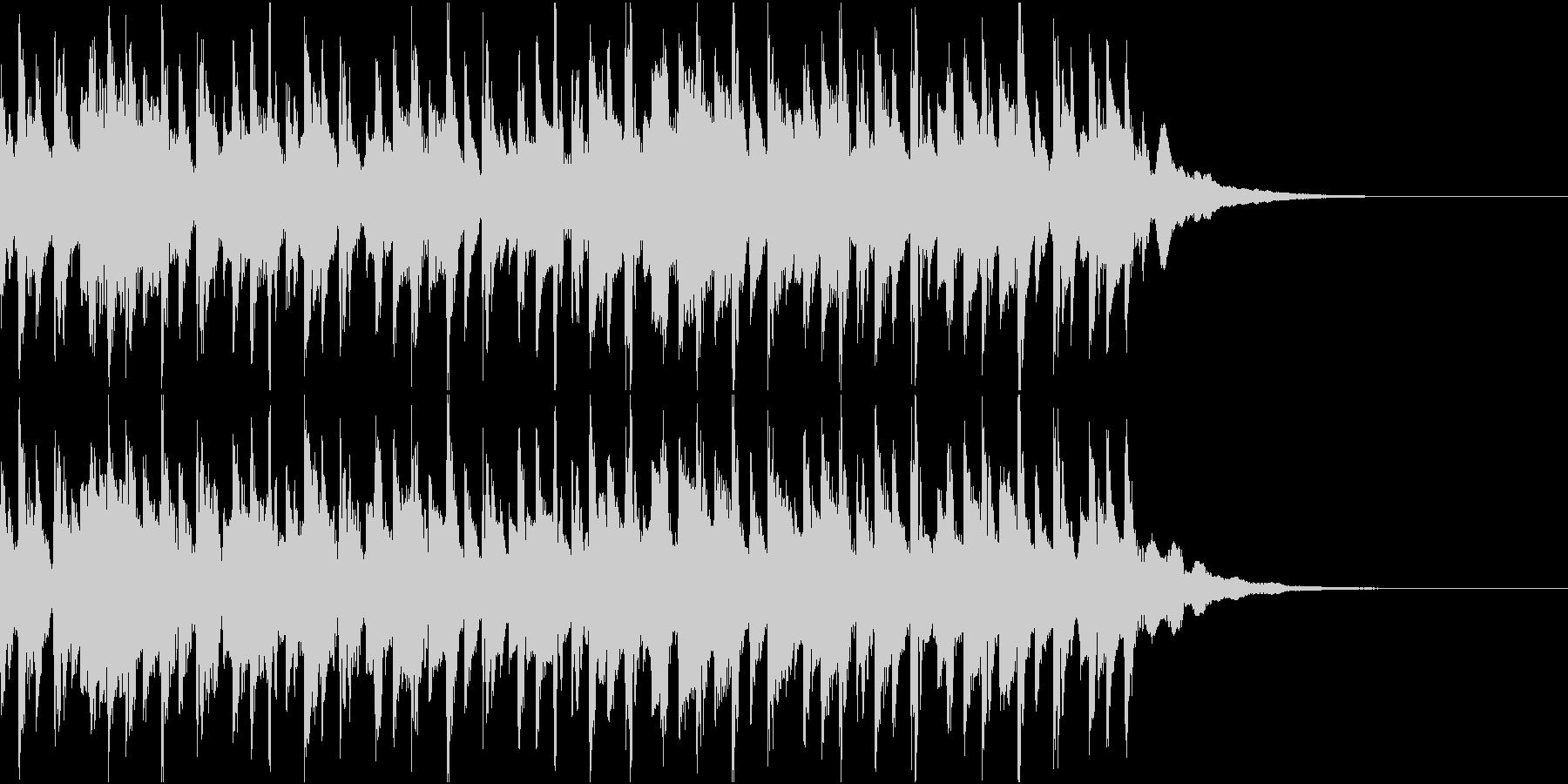 ニュース ラジオ テクノジングル5の未再生の波形