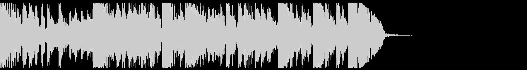 ブレイクビーツなファンファーレの未再生の波形