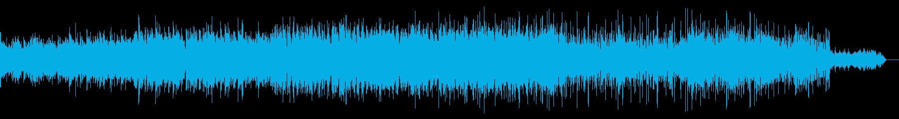 エスニックでノイジーなテクスチャの再生済みの波形