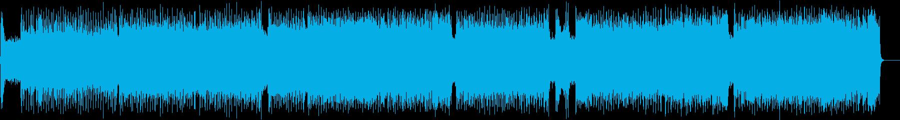 8ビートにワウギターが炸裂するロックの再生済みの波形