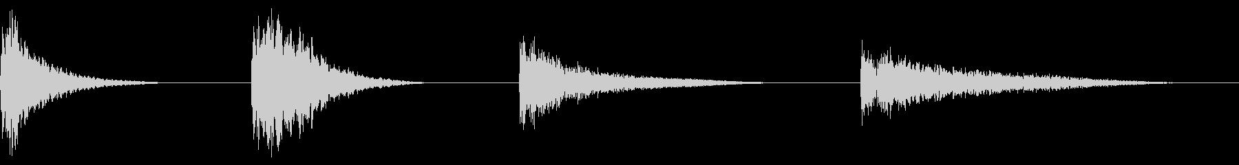 スペースドロップ-ムーグ-4バージョンの未再生の波形