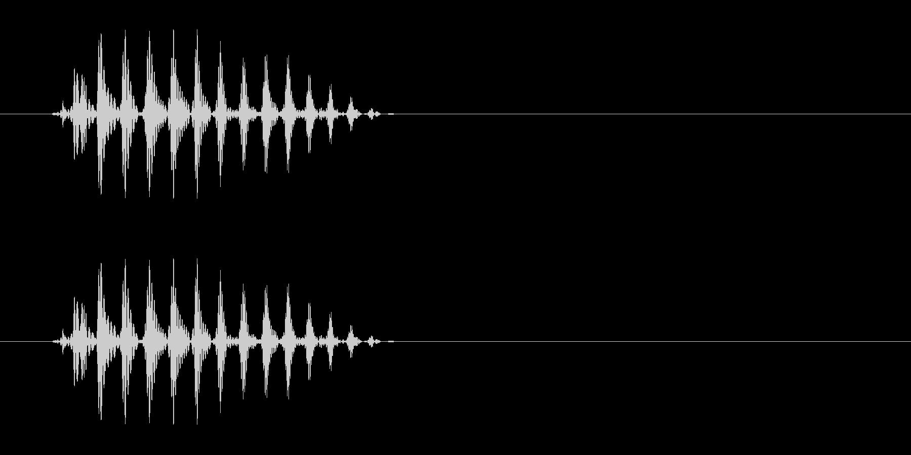 パッという短くて可愛らしい音の未再生の波形