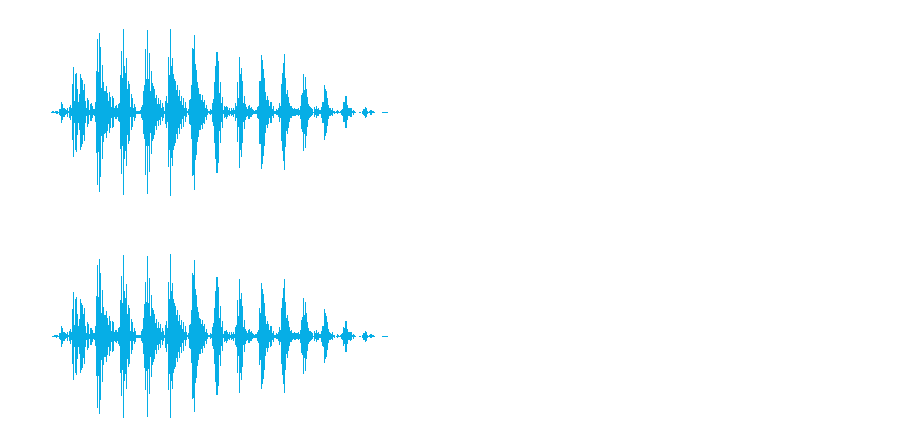 パッという短くて可愛らしい音の再生済みの波形